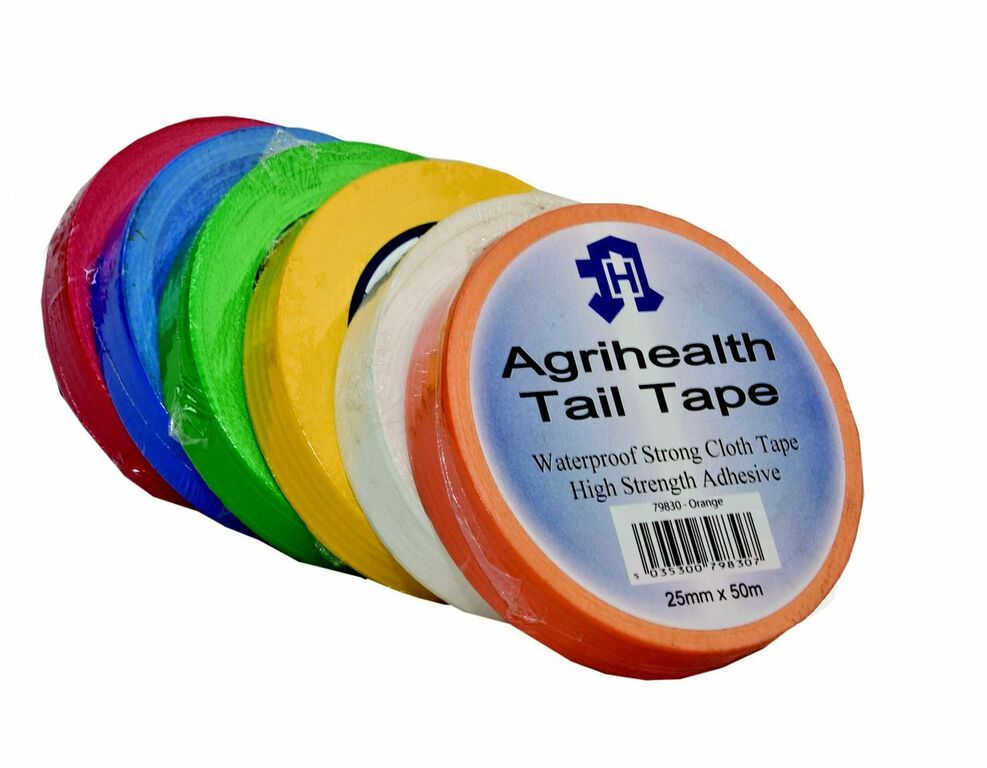 Agritape Tail Tape Assorted Colours 25mmx50m